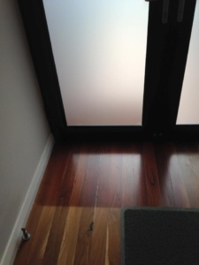front door floor uv damage